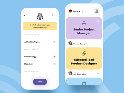 Job Search art illustration creative interaction platform work minimal job portal product design mobile onboarding cards ux ui ios job freelancer dashboard find job