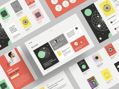 Digital Library: Art and Design Web App e commerce store book cover art reading illustration website design graphics data visualization landing page product design creative interaction minimal ux ui pattern art art library digital book