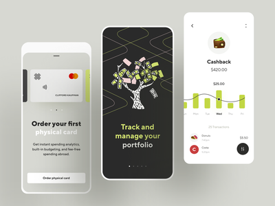 Online banking - finance app concept minimal transactions illustration banking app bank productdesign mobile design finance app fintech credit card payment porfolio onboarding wallet budget transfer graphics ux ui