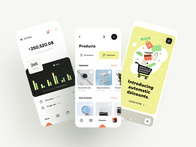 Sell online from your phone interface interaction minimal app design illustration graphics store shop ecommerce app business payment wallet dashboard product design mobile app ux ui