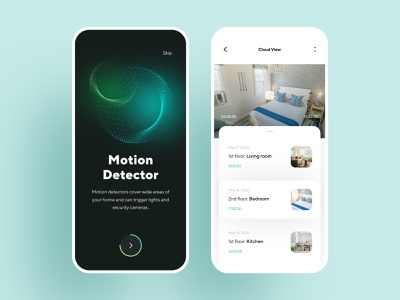 Home Security Camera App Concept home security motion graphics smart home video cloud app data visulization data creative minimal onboarding ui dashboard graphics interface illustration mobile app design mobile product design ux ui