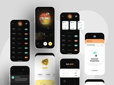Stocks and Finance app UI map sell mobile app design messages currency exchange fintech app 2021 onboarding ui portfolio wallet finance app stocks minimal dashboard graphics product design illustration ux ui