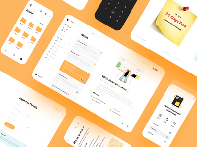 Notes Organizer UI Map icons design mobile app design payment app website design to do app organizer widgets notes app interface design landing page clean dashboard graphics product design illustration minimal creative ux ui