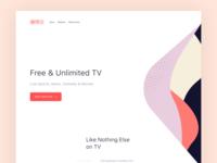 TV platform. Landing Page.