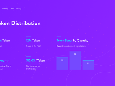 Launch your ICO   Landing Page Concept ux ui landing page bitcoin ico blockchain crypto cryptocurrency