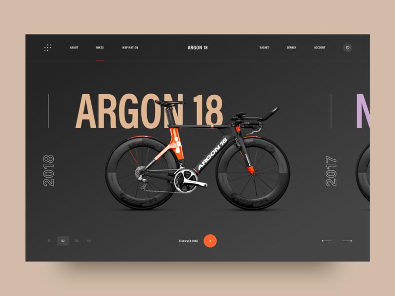 Argon 18: e-commerce ui design awsmd e commerce bike landing page clean interaction app design creative ux ui