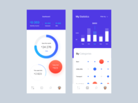 Save money app. UI design