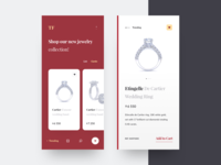 Jewelry shop ui design