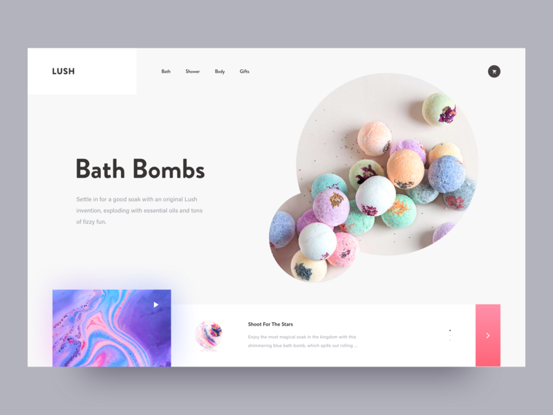 Lush - Fresh handmade cosmetics. gift package design relax spa fashion shop store ecommerce creative awsmd landing page clean layout interaction design typography interface cart product minimal