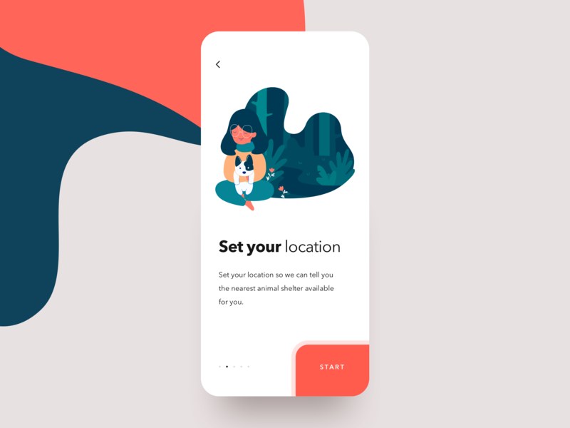 Pets Adoption. Onboarding screen ux flow uidesign mobile app donate charity dog animal art illustration clean  creative clean onboarding pet adoption pet care pet app