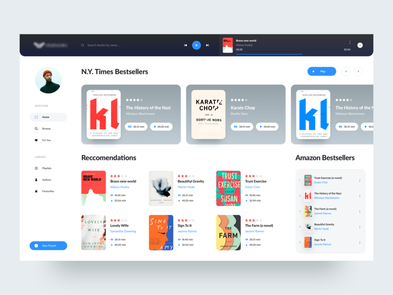 A good book has no ending profile product typography minimal app ui design layout landing page interaction creative 2019 clean interface awsmd ecommerce store book app bookstore book