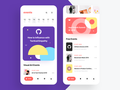Event App Concept halloween booking ticket booking pattern photos graphics illustration ui red purple trending tickets cards location map favourites calendar date event app