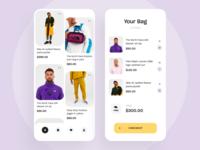 Clothing Shop App Design