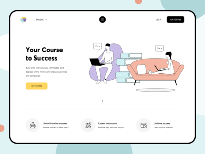 Education Web Platform Design