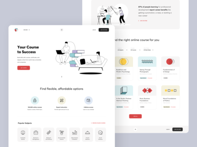 Online courses / Landing page