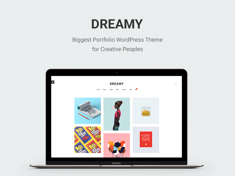 Dreamy - Biggest Portfolio WordPress Theme dribbble socials masonry agency photography portfolio