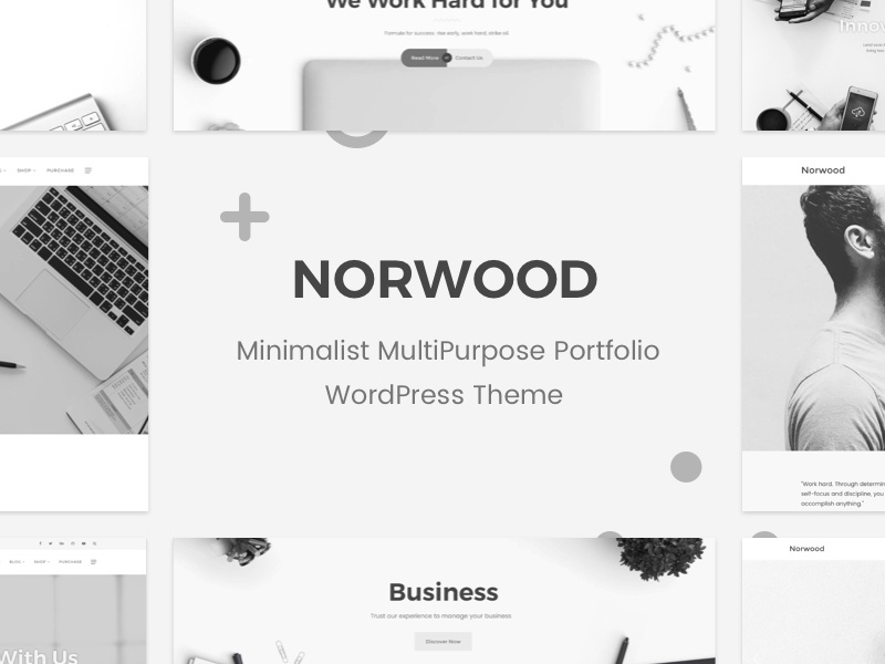 Norwood - Minimalist MultiPurpose Portfolio WordPress Theme woocommerce responsive portfolio multi purpose minimal magazine creative corporate clean business blog agency