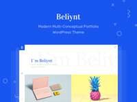 Beliynt - Modern Multi-Conceptual Portfolio WordPress Theme wp colorful clean modern