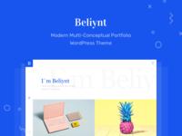 Beliynt - Modern Multi-Conceptual Portfolio WordPress Theme wp colorful clean modern