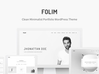 Folim - Clean Minimalist Portfolio WordPress Theme grey personal portfolio clean modern simple minimal