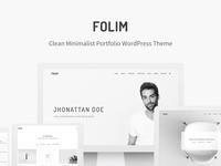Folim - Clean Minimalist Portfolio WordPress Theme grey personal portfolio clean modern simple minimal