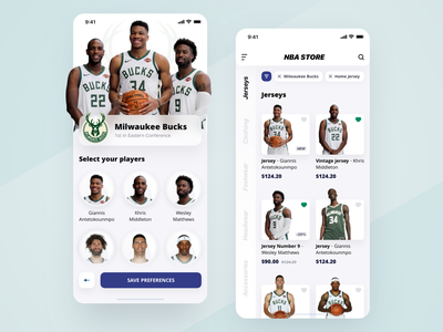 NBA Store Redesign listing products onboarding smooth light user experience user interface uiux typography design shop ecommerce basketball