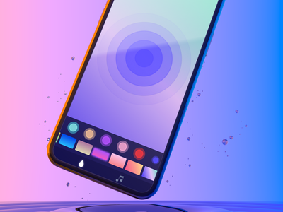 Ripples - The perfect app to calm down soundwave sounds ripples colors headspace meditation calm apps ui 200apps design app