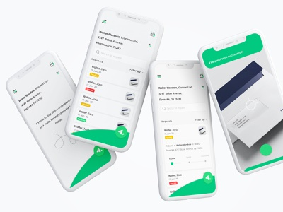 StopMail - The junk-mail app green app green junkmail mailbox mail camera screens apps ui 200apps app design