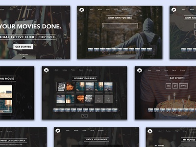 Moviemation - Web screens