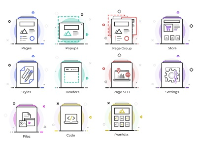 Icon Set 1 vector ux ui design graphic design icons pack icons icon iconset illustration