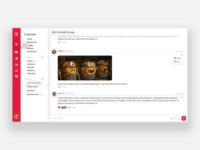 Web Chat App Mockup ux ui illustration web app chat app chat