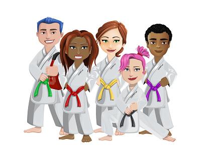 Martial Arts Student Illustrations design branding vector students people martial arts graphic design illustration