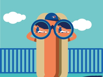 CloseCall hotdog illustration