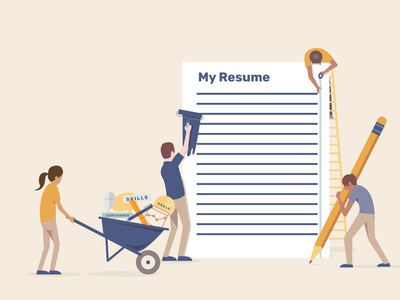 Renovate my resume resume illustration