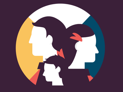 Family illustrator vector charity infographic group human family profile illustration people