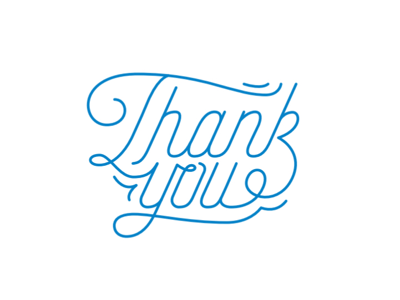 Thank You script thank you custom type hand type typography