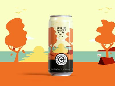 BCB Can second summer beer design vector illustration