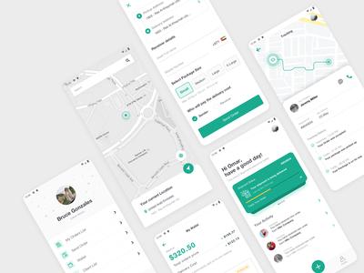Forward - Delivery & Tracking App ux  ui delivery app design app ui