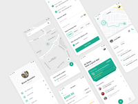 Forward - Delivery & Tracking App ux  ui delivery app design app ui