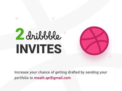 2x Dribbble invites invites dribbble