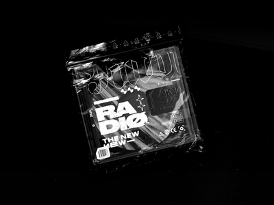 The New New Radio — #1 Edition cassette minidisc rock band punk typography type