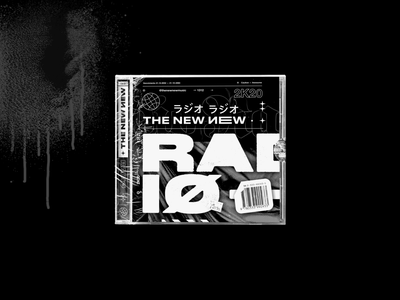 The New New Radio — #2 Edition disc rock band punk typography type