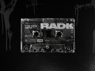 The New New Radio — #4 Edition cassette rock punk band typography type