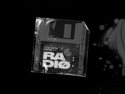 The New New Radio — #5 Edition diskette rock punk band typography type