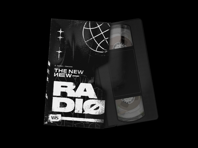 The New New Radio — #8 Edition vhs rock punk band typography type