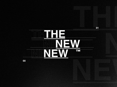 The New New - Identity redesign brand branding typography type grunge punk rock band