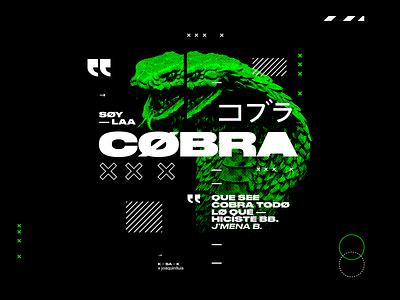 LA COBRA · Jmena Baron trap cobra acid typography typeface type type art