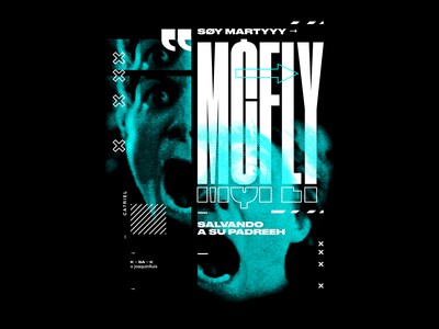 MCFLY · Ca7riel typeface typography type trap backtothefuture mcfly