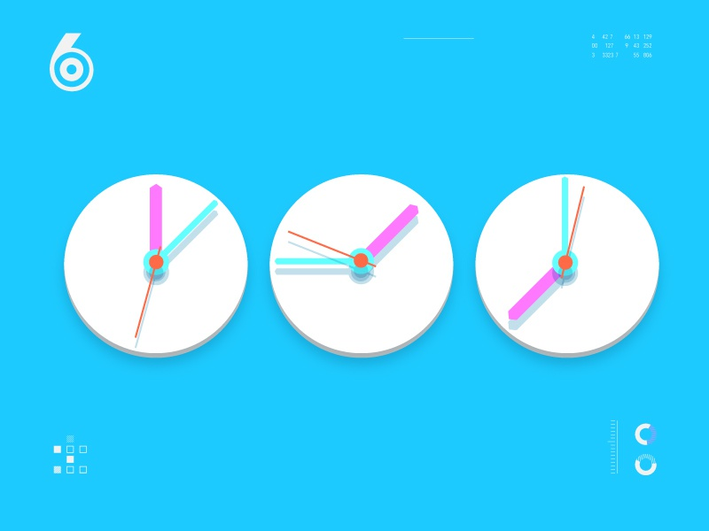 The News II watch world simple news illustration idents time clock clean channel
