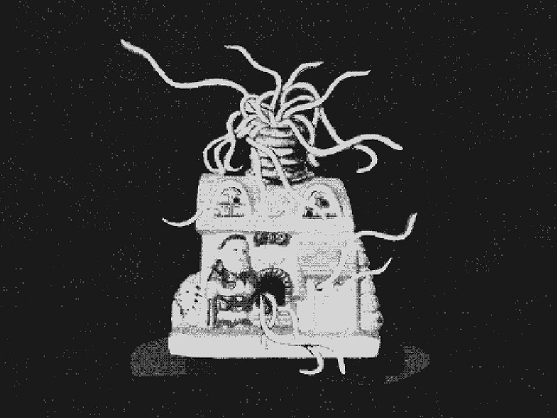 You better watch out! II graphic design christmas tentacles lovecraft death holidays illustration horror xmas bnw
